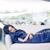 睡袋 伸手睡袋成人戶外室內冬季加厚保暖露營旅行雙人隔臟棉睡袋LB2926【Rose中大尺碼】