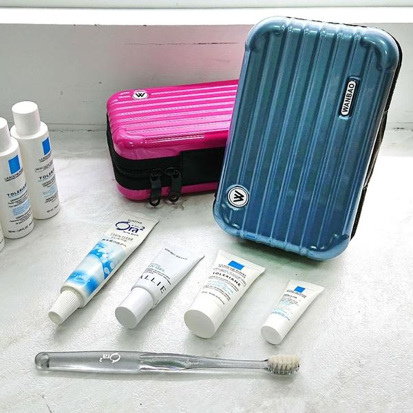 樂嫚妮 過夜包 航空包  硬殼行李箱化妝包收納包