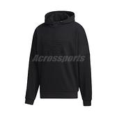 adidas 長袖T恤 Embossed Hoodie 黑 男款 帽T 浮凸紋 立體壓紋 運動休閒 【ACS】 GT7299
