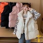 棉服馬甲背心外套女裝冬季百搭加厚棉襖子面包棉衣【雲木雜貨】
