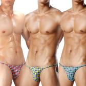 TIKU 梯酷 ~ 雅格 超彈低腰三角男內褲3件組-紅+藍+黃 (GR1152+GB1152+GY1152)