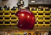 [中壢安信]美國 TORC T50 Superflake 亮片紅 半罩 哈雷 復古帽 雙D扣