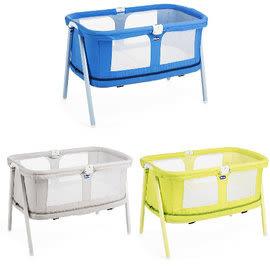 *babygo*義大利Chicco Lullago Zip可攜式兩段嬰兒床(遊戲床)●優雅淺灰●萊姆翠綠●寧靜靛藍