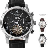 Valentino范倫鐵諾 精密鏤空自動上鍊機械皮革手錶腕錶 經典羅馬數字顯示【NE1882】單支