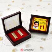 促銷雙寶:臍帶印章1個(電腦刻)+烤漆玻璃木盒+高畫質相片足印