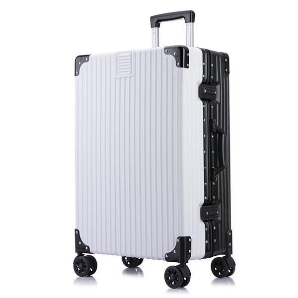 行李箱ins網紅鋁框24拉桿箱萬向輪20寸小型女男旅行密碼皮箱潮28-金牛賀歲