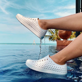 native水鞋 男女鞋 奶油頭 洞洞鞋 休閒鞋 情侶鞋 親子鞋 懶人鞋 JEFFERSON F9481#白色◆OSOME奧森鞋業