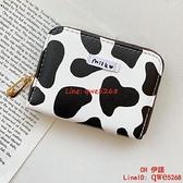 奶牛紋卡包女大容量多卡位風琴卡片包超薄零錢包【CH伊諾】