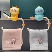 兒童毛巾架卡通免打孔寶寶毛巾掛粘貼可愛廁所創意洗手間毛巾掛架 璐璐生活館