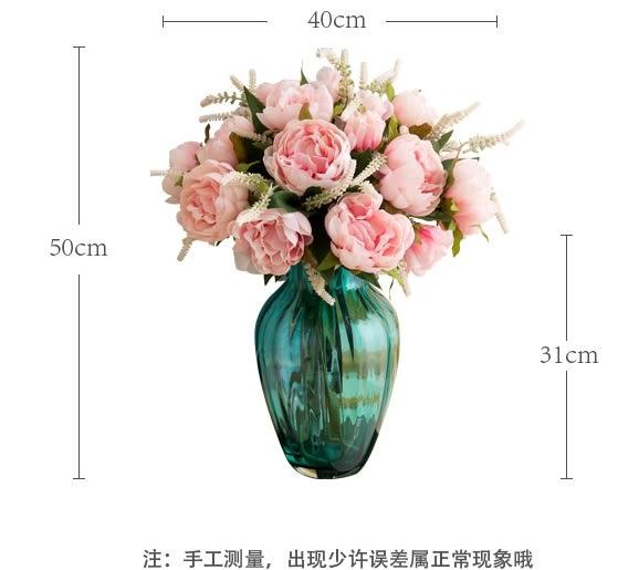 模擬花假花 套裝 花藝 客廳餐桌 裝飾花 花瓶花束 -bri02009