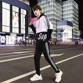 運動套裝 衛衣套裝男連帽休閑運動服學生韓版潮流帥氣衣服兩件套