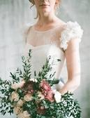 歐尚-淡淡的仙氣 森風新娘旅拍外景海景度假婚紗禮服批發631t