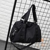 健身包簡約旅游包手提大容量防水可折疊行李包【橘社小鎮】