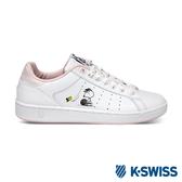 K-SWISS Clean Court CMF Peanuts史努比聯名 休閒運動鞋-女-白/粉紅