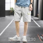五分褲工裝褲男士休閒短褲子韓版潮流牌夏季薄款夏季寬鬆運動束腳五分褲 凱斯盾