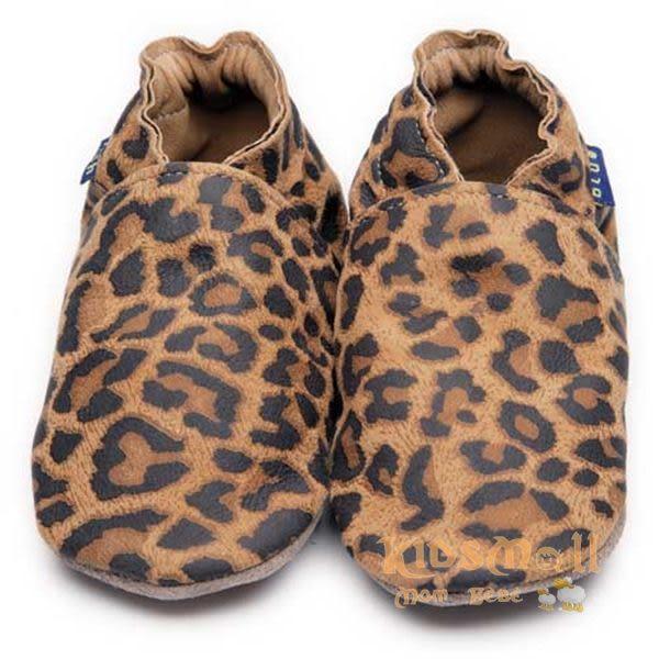 英國製Inch Blue,真皮手工學步鞋禮盒,Plain-Leopard