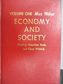 【書寶二手書T1/社會_MOE】Economy and Society_Vol.1_Max Weber