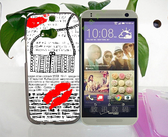 ✿ 3C膜露露 ✿ 【軟殼*文字嘴唇】HTC One 2 / M8 手機殼 手機套 保護套 保護殼
