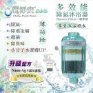 【龍門淨水】新淨安 除氯沐浴器-薄荷綠多效能1支組買二送一 除重金屬小分子潔膚奈米抗菌(7811)
