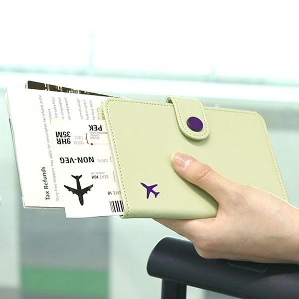護照夾護照包韓國正品monopoly糖果色PU旅行短款護照夾防泄漏護照套男女證件包【快速出貨】