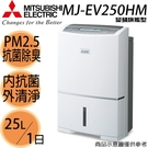 限量【MITSUBISHI三菱】25公升/1日 日本製造 變頻旗艦型 除濕機 MJ-EV250HM 免運費