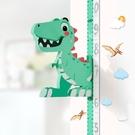 恐龍兒童身高牆貼紙卡通測量儀寶寶可移除記錄3D立體小孩測身高尺 小明同學