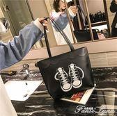 大包包潮包女新款托特包學生簡約大容量手提包韓版PU單肩大包  范思蓮恩