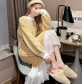 孕婦裙子 孕婦裝春裝2021新款毛衣中長款連衣裙冬季網紅套裝時尚款裙子【快速出貨八折下殺】