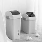 搖蓋垃圾桶家用衛生間窄縫長方形有蓋帶蓋廁所夾縫廚房北歐簡約扁  熊熊物語