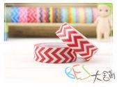 紙膠帶-和紙膠帶左右波紋 紅色