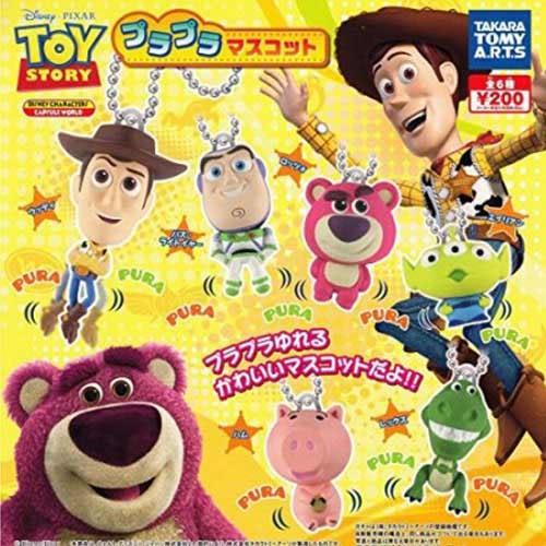全套6款【日本正版】玩具總動員 搖搖人物吊飾 扭蛋 轉蛋 吊飾 皮克斯 迪士尼 - 816147