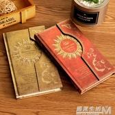 魔法筆記磁扣本復古歐式日記本手賬本韓國筆記本子彩頁插畫日程本 雙十二全館免運