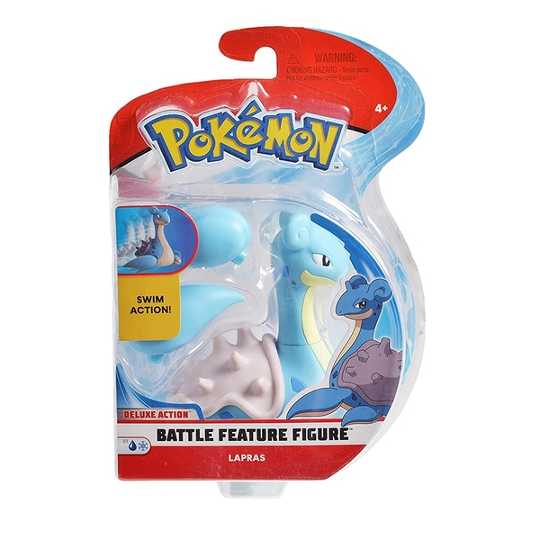 [9美國直購] Pokemon 精靈寶可夢 戰鬥人物公仔 4.5 Inch Battle Feature Figure, Features Surf Action Lapras