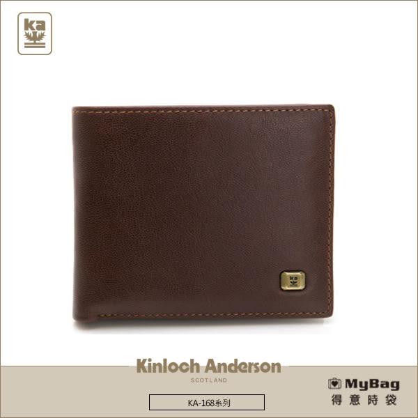 Kinloch Anderson 金安德森 皮夾 紳士品格 濃郁咖 左右翻子母式 牛皮短夾  KA168001CFF  MyBag得意時袋