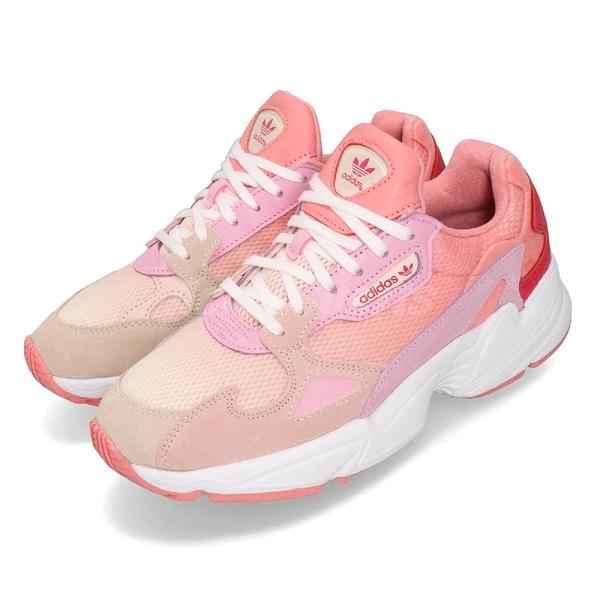 【五折特賣】adidas 老爹鞋 Falcon W 粉紅 白 運動鞋 女鞋 主打款 【ACS】 EF1964
