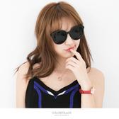 太陽眼鏡 時尚粗框圓形墨鏡 獨特同款2色鏡框搭配 中性設計多色可選【NY309】抗UV400