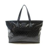 GUCCI 古馳 黑色PVC托特包 肩背包 GG Imprime Tote Bag 211120 【二手名牌BRAND OFF】