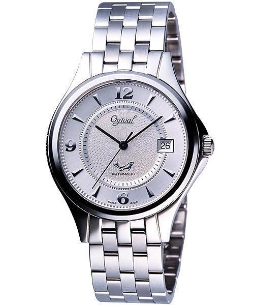 Ogival 愛其華 都會爵士自動上鍊機械腕錶-銀 829AM-108