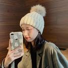 帽子女冬季韓版百搭學生毛球毛線帽潮秋冬天套頭帽加厚ins針織帽 小山好物