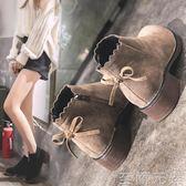 秋冬季新款潮小短靴女小跟韓版學生百搭低跟粗跟chic馬丁靴子WD 至簡元素