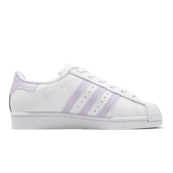 adidas 休閒鞋 Superstar W 白 紫 女鞋 小白鞋 貝殼頭 百搭款 運動鞋【ACS】 FV3374