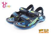 GP涼鞋 中大童 磁扣兩穿防水涼鞋 氣墊款 I6719#水藍◆OSOME奧森童鞋