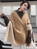 圍巾韓版女秋冬學生ins少女披肩雙面兩用韓劇同款厚圍脖百搭冬季 草莓妞妞