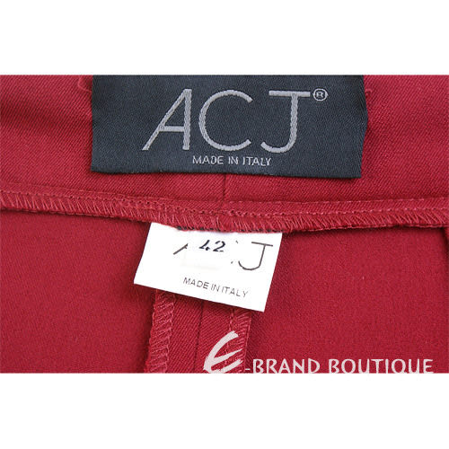 ACJ 紅色圖樣飾邊八分褲 0510321-54