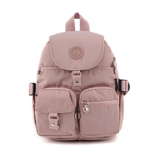 B.S.D.S冰山袋鼠 - 時光旅人 - 知性加大款附插袋後背包 - 奶茶杏【B0015-C】