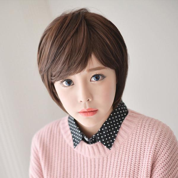 韓 小清新 甜女孩兒短髮【D63】高仿真超自然整頂假髮☆雙兒網☆