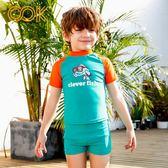 OOK男童泳褲 兒童小孩中大童分體兩件套溫泉泳褲游泳衣泳裝套裝