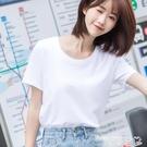 短袖T恤 白色T恤女短袖寬鬆純棉夏季女裝2021年新款短款打底衫ins潮黑上衣 曼慕