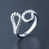 戒指 925純銀鑲鑽-簡約鏤空生日情人節禮物女開口戒73dt697【時尚巴黎】