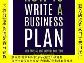 二手書博民逛書店How罕見to Write a Business Plan 6t